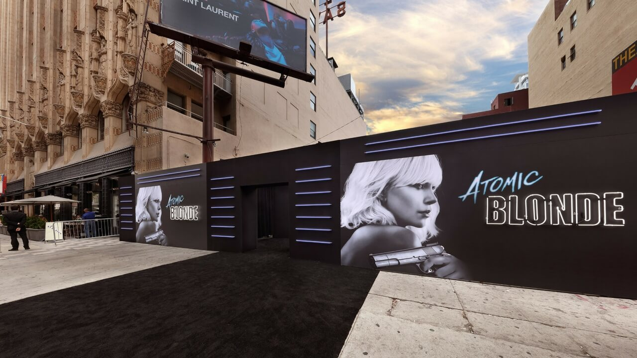 Red Carpet Event Production Hollywood Event Planning Experiential Special Events - Atomic Blonde Live Production JG2COLLECTIVE